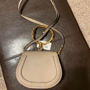 Chloe Small Nile Bracelet Leather Crossbody Bag